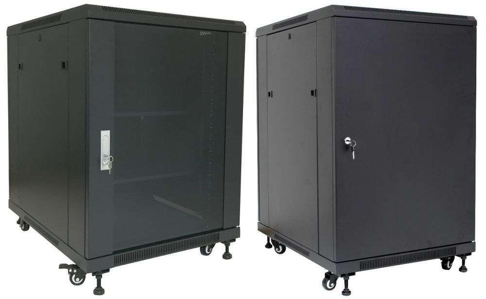 """Szafa Rack 19"""" 15U 600x800 Base Link BL-SRS1915680SM-1C - stojąca"""