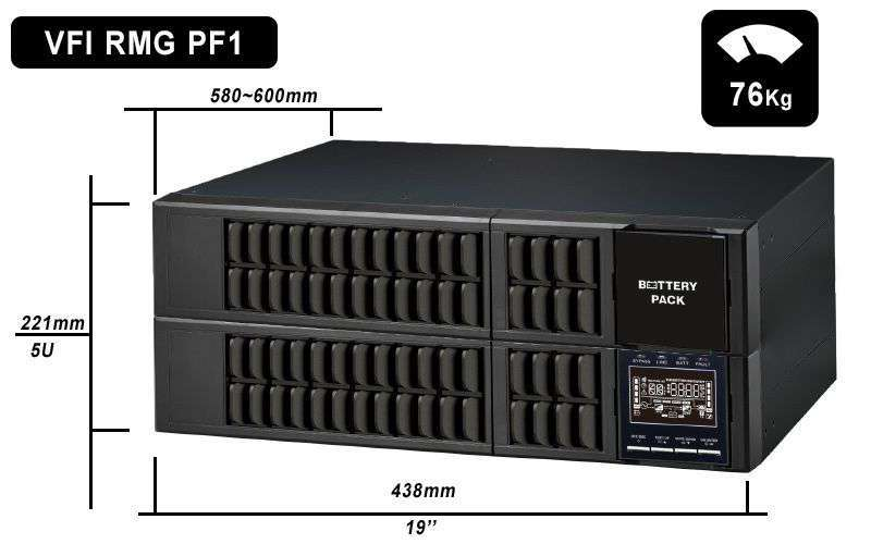 VFI 6000 RMG PF1 PowerWalker wymiary i waga