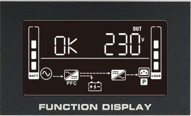 PowerWalker VFI 6000 RMG PF1 wyświetlacz LCD