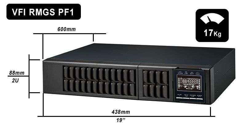 VFI 6000 RMGS PF1 PowerWalker wymiary i waga