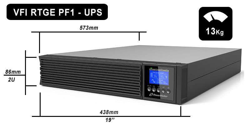VFI 6000 RTGE PF1 PowerWalker wymiary i waga