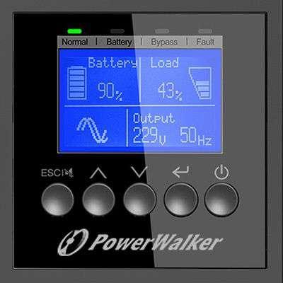 PowerWalker VFI 6000 RTGE PF1 wyświetlacz LCD
