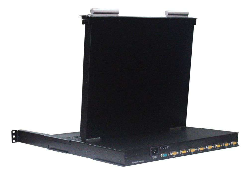 ☆ ekran 17 calowy ☆ 8xVGA HDB15 / USB / PS2 ☆ do szaf serwerowych RACK 19 ☆ LED ☆ 1U ☆ pojedyncza szyna ☆ HUB USB