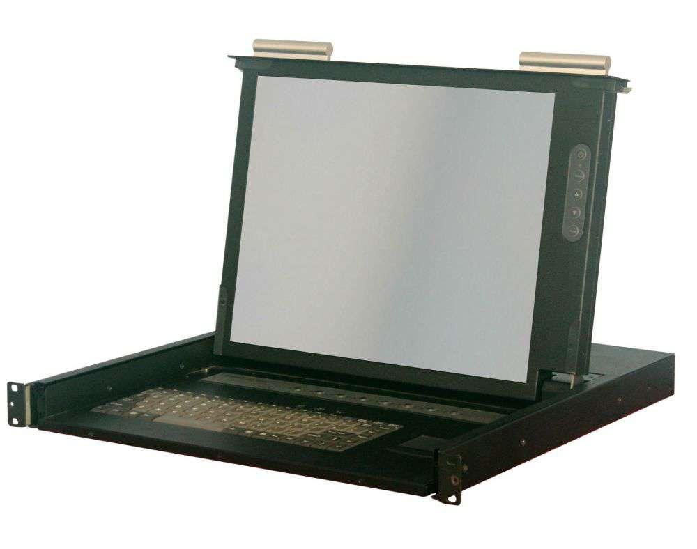 """8 portowa konsola KVM 17"""" LCD KVM-1708S-AST-M2 Annso"""