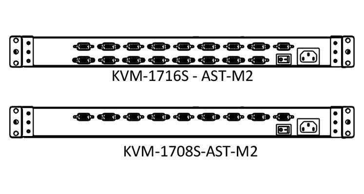 KVM-1708S-AST-M2 - panel tylny konsoli