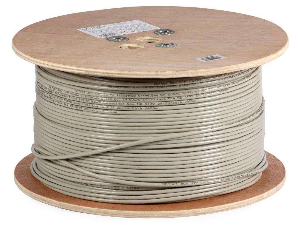 Wewnętrzny kabel LAN skrętka U/UTP CAT.5e E1408_500 Netset
