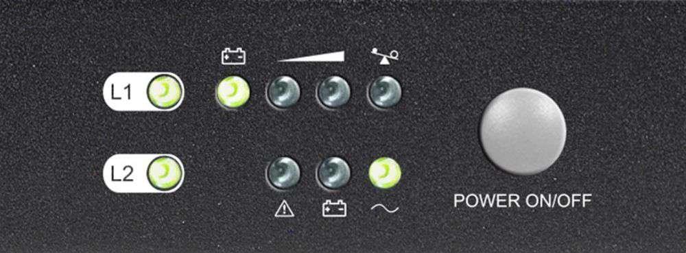 PowerWalker VFI 1000 LR1U LED DIODYLCD