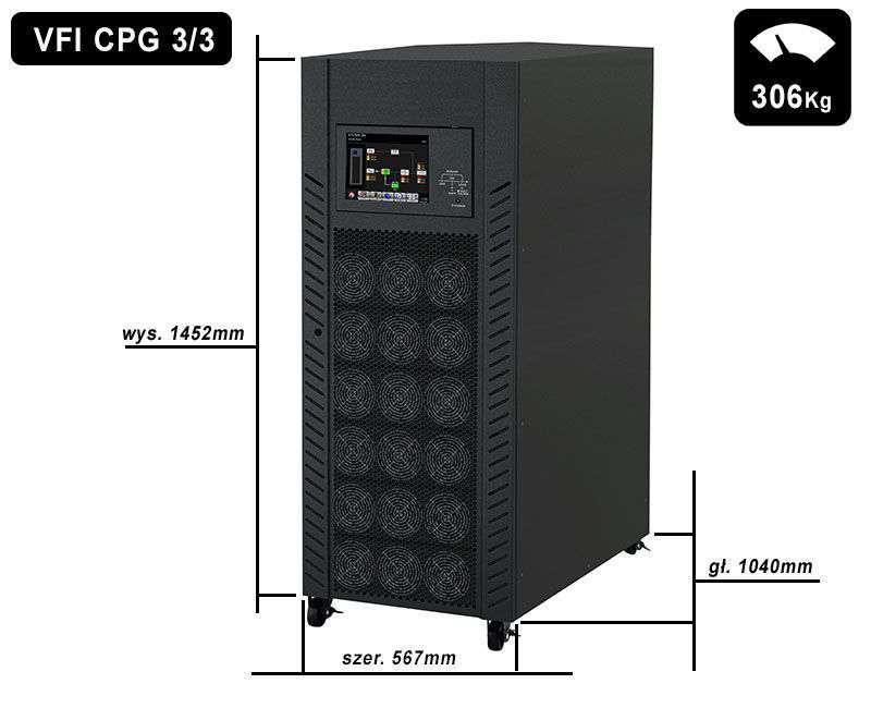 VFI 160K CPG 3/3 BX PowerWalker wymiary i waga