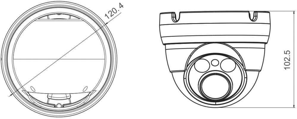 wymiary kamer ipox px-dzip402ir-p/w