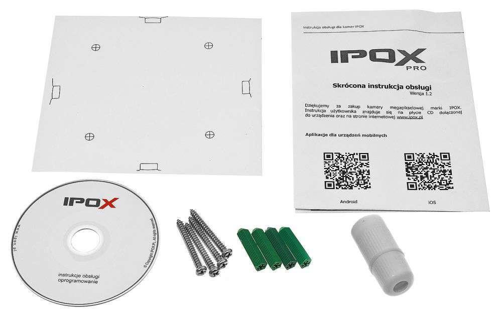 zawartość opakowania ipox pro px-dzip402ir-p/w