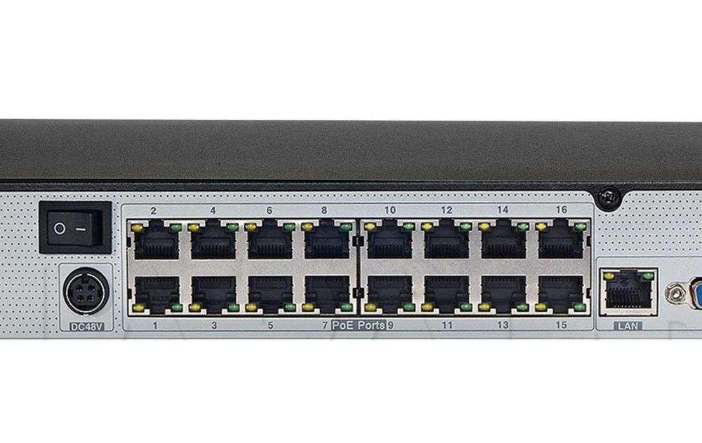 Rejestrator do monitoringu IPOX ipox-px-nvr1682h-16p 16 portów poe
