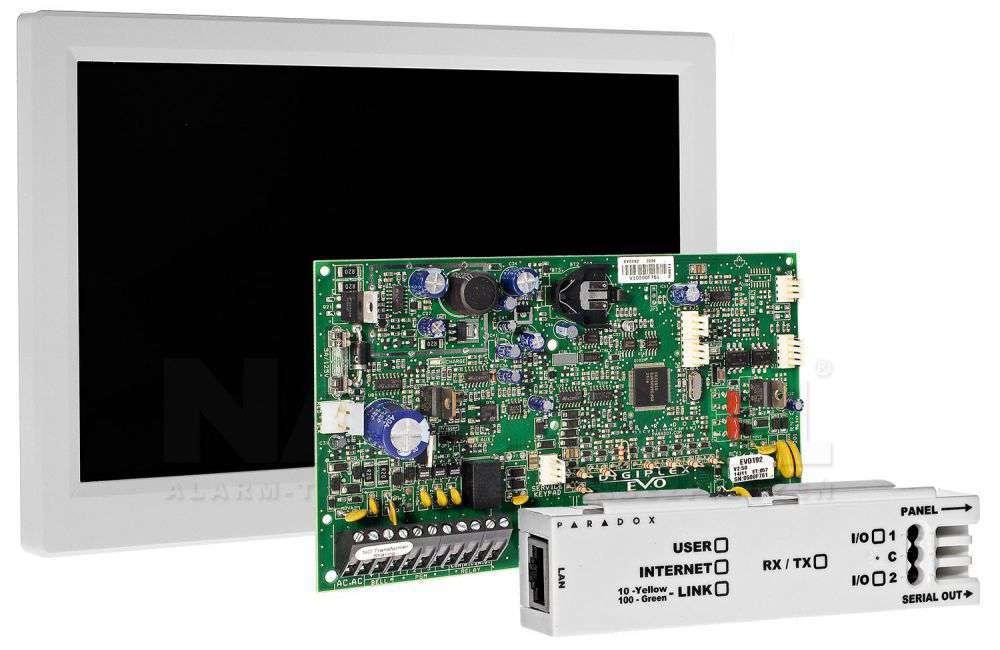 ☆ Digiplex EVO-192 ☆ klawiatura dotykowa TM-70 ☆ moduł internetowy IP-150