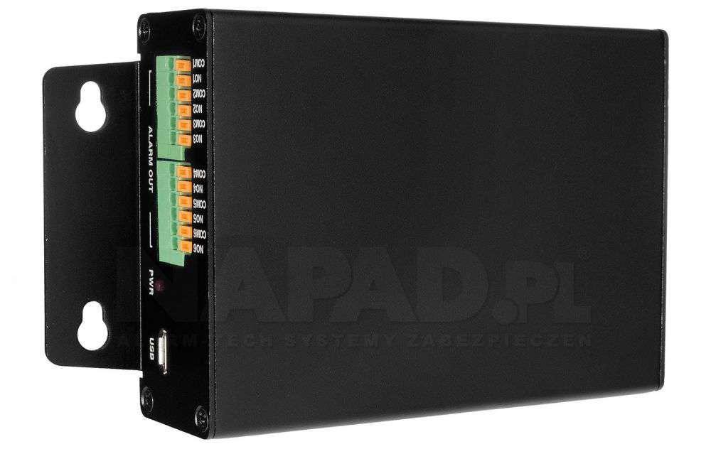 Moduł USB wejść / wyjść alarmowych 16/6 box PX-AB1606U-P IPOX