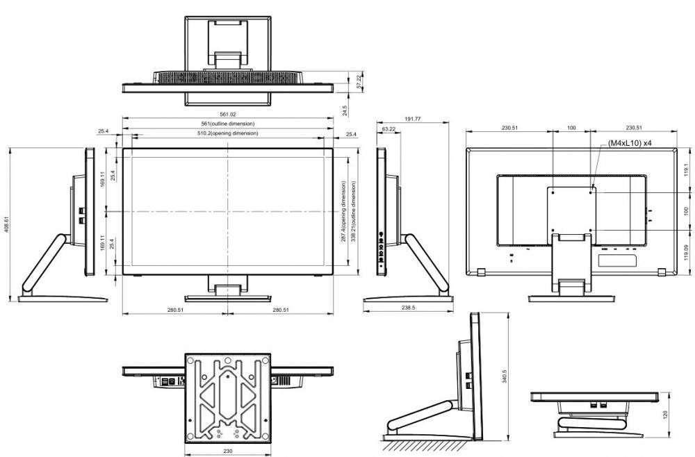 rysunek techniczny ag neovo TM-22