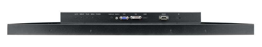 TX-32P AG Neovo widok złączy DMI, VGA, DVI, RS323, Audio
