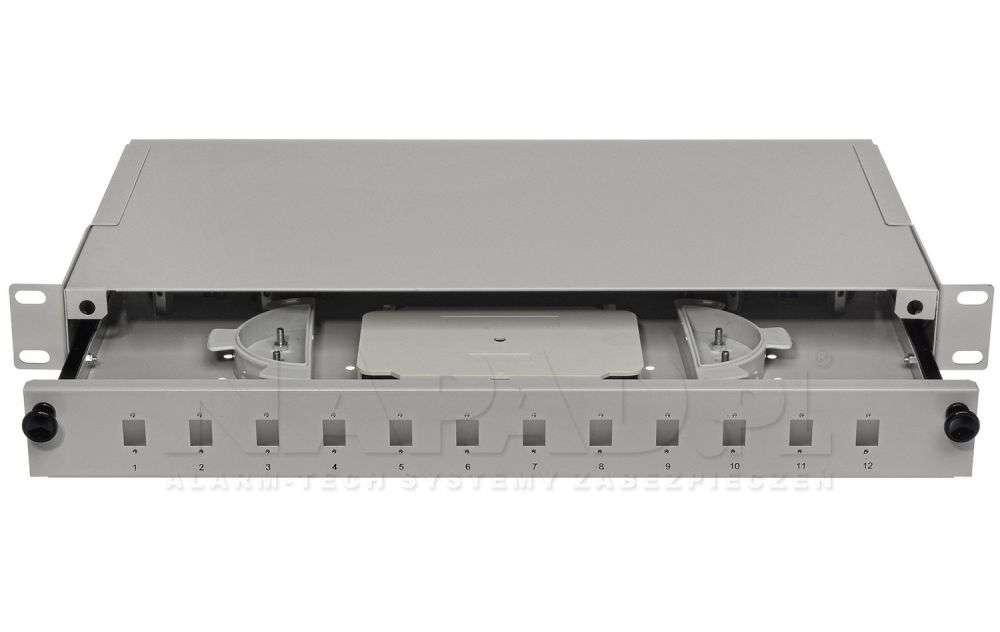Przełącznica światłowodowa 12x SC simplex szara