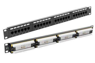 24 portowy patch panel UTP Cat.5e