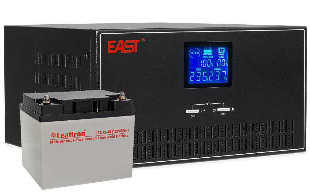 Zestaw Inverter INV600 East + Akumulator 12V/45Ah