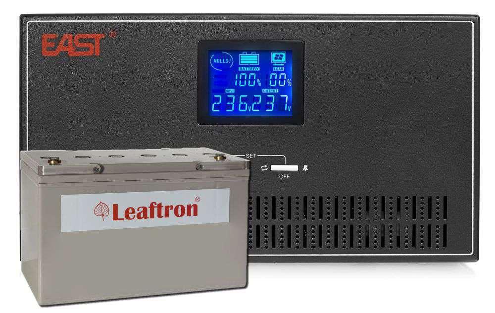 Zestaw Inverter INV600 East + Akumulator 12V/100Ah