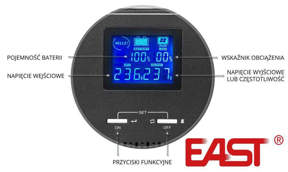 INV600 East wyświetlacz LCD
