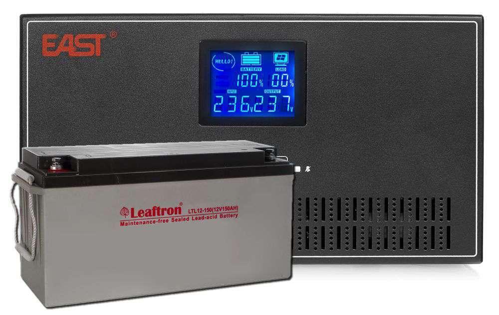 Zestaw Inverter INV600 East + Akumulator 12V/150Ah