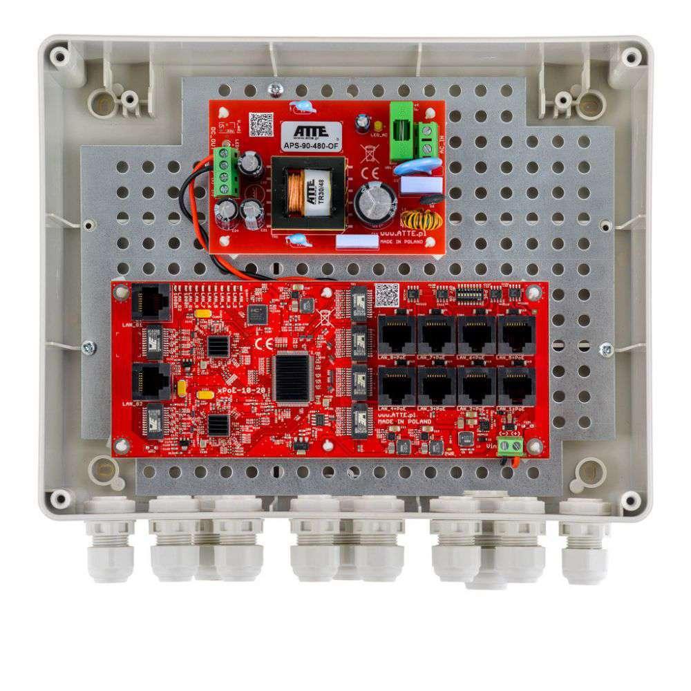 Przełącznik Fast Ethernet PoE Switch IP-8-20-L2 ATTE