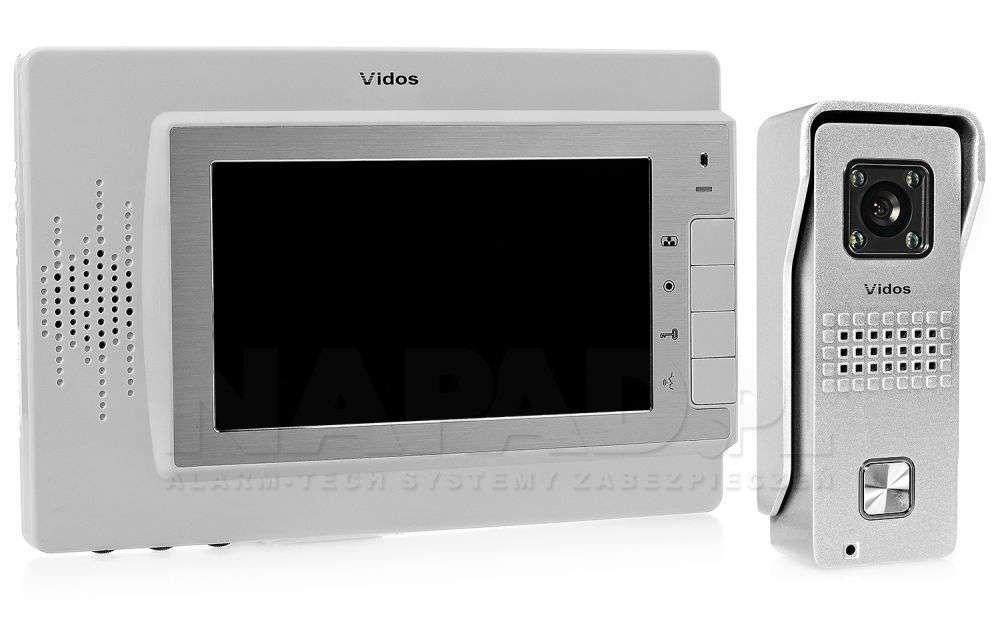 Zestaw wideodomofon analogowy M320W/S6 Vidos biały