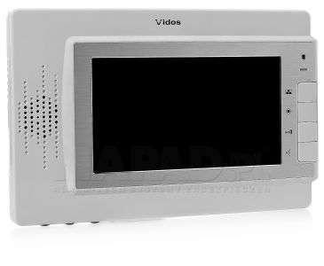 Monitor głośnomówiący7-calowy LCD biały