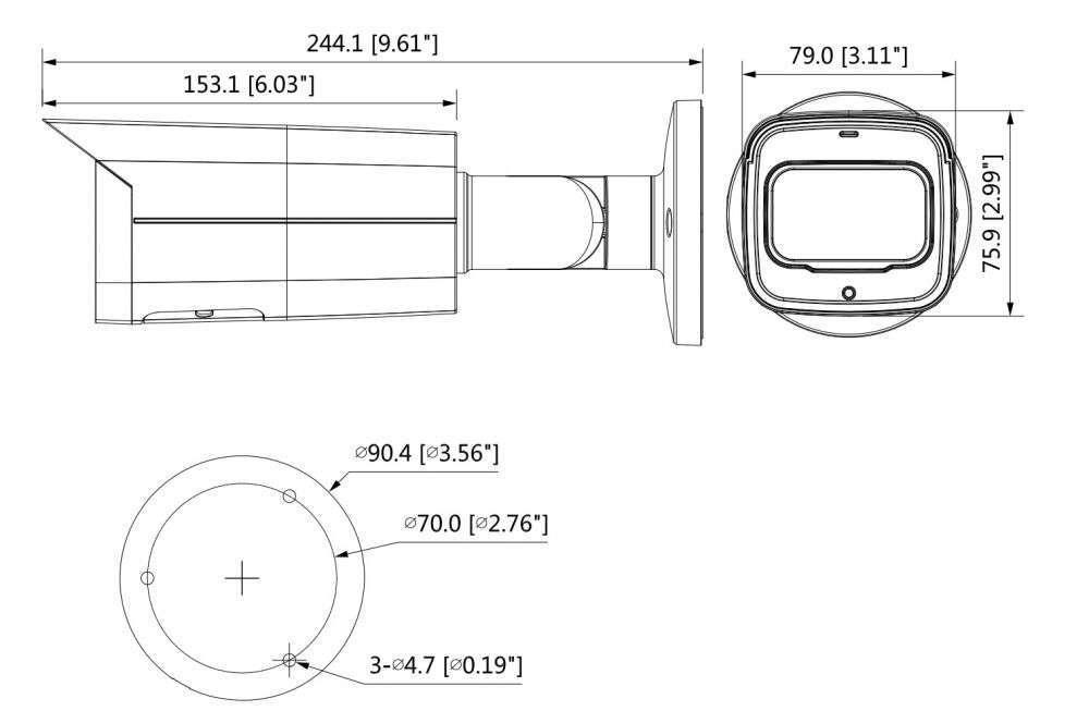 DH-IPC-HFW5541T-ASE-0360B wymiary