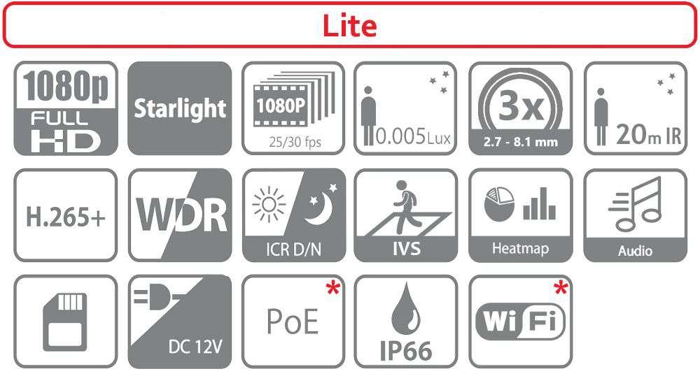 Kamera do monitoringu IP obrotowa DH-PTZ1C203UE-GN DAHUA (2MPX)
