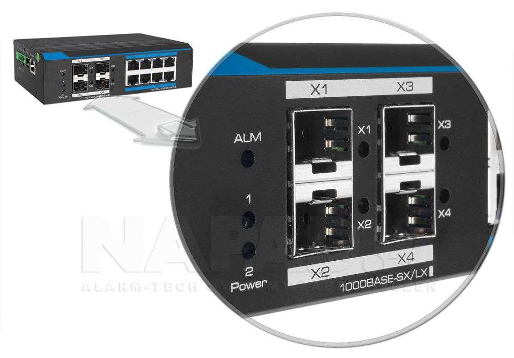 PX-SW8G-P150-U4GL2 moduły światłowodowe 4x sfp