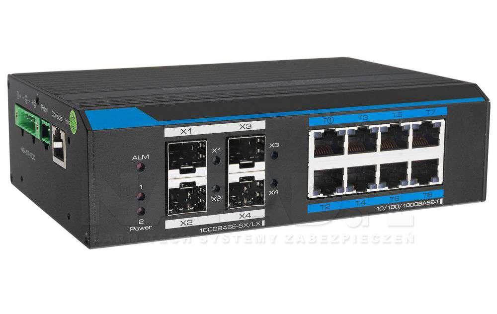 Przełącznik Gigabit Ethernet PoE+ Switch PX-SW8G-P150-U4GL2 IPOX