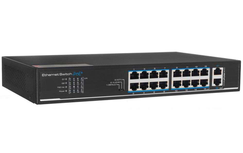 Przełącznik Fast Ethernet PoE+ Switch PX-SW16-U2 IPOX