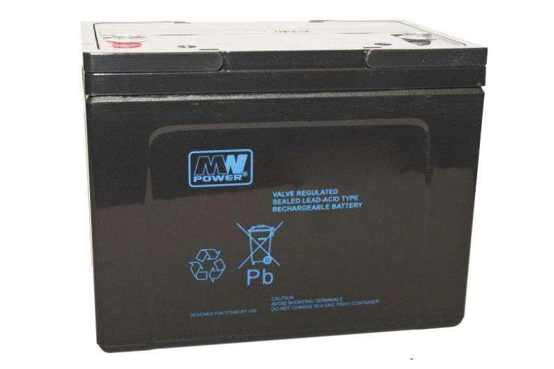 Akumulator AGM 12V/75Ah MWP 75-12H MW Power