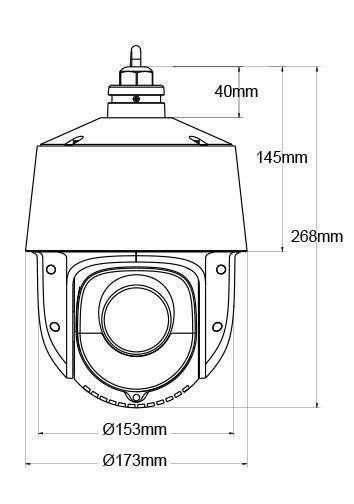PX-SDIP2420 IPOX wymiary kamer