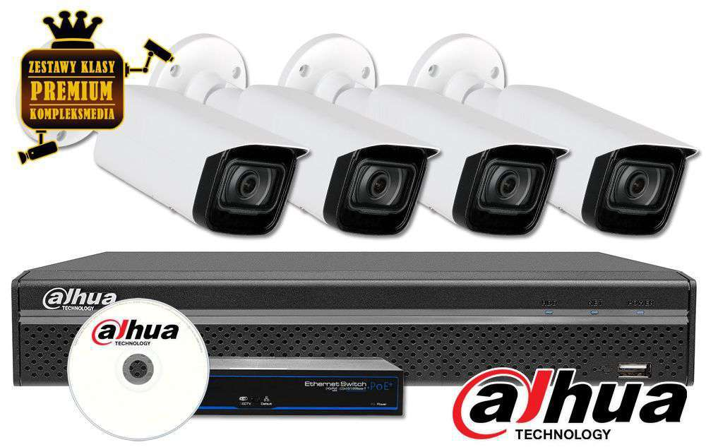 Zestaw do monitoringu IP ZMIP-DAH4KB60/IR80 (6MPX) DAHUA