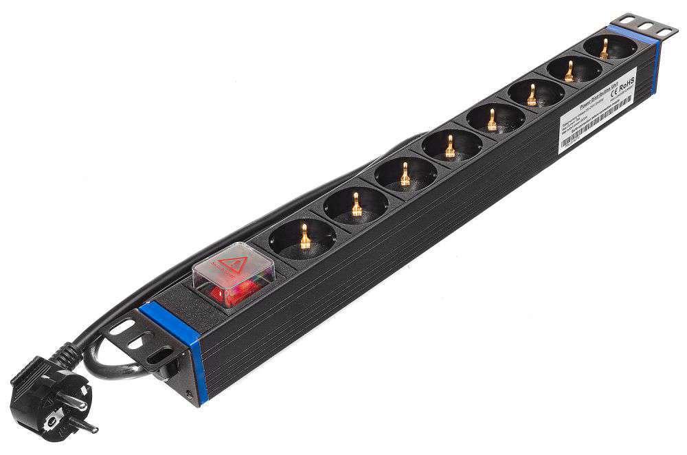 8 portowa listwa zasilająca RACK 19 SCHUKO Rack Systems