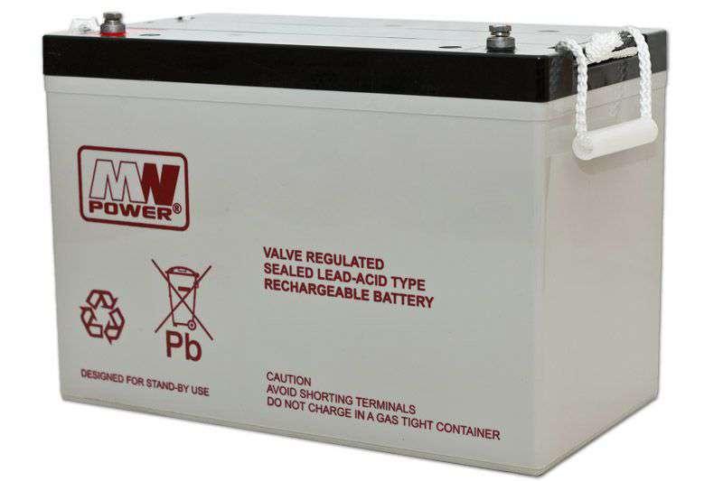 Akumulator AGM 12V/100Ah MWL 100-12h MW Power