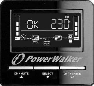 PowerWalker VI 3000 CW FR wyświetlacz LCD
