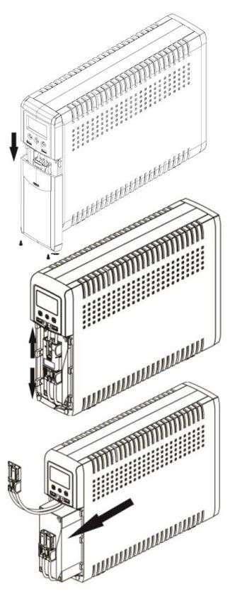 PowerWalker VI 1000 CSW FR wymiana baterii