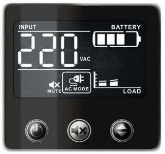 PowerWalker VI 600 CSW FR wyświetlacz LCD