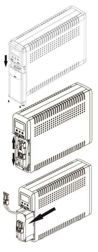 PowerWalker VI 1500 CSW IEC wymiana baterii