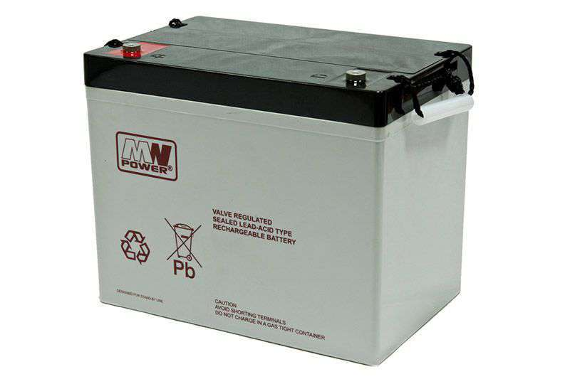 Akumulator AGM 12V/75Ah MWL 75-12H MW Power