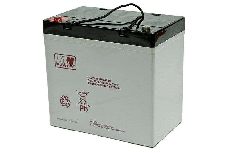 Akumulator AGM 12V/55Ah MWL 55-12 MW Power