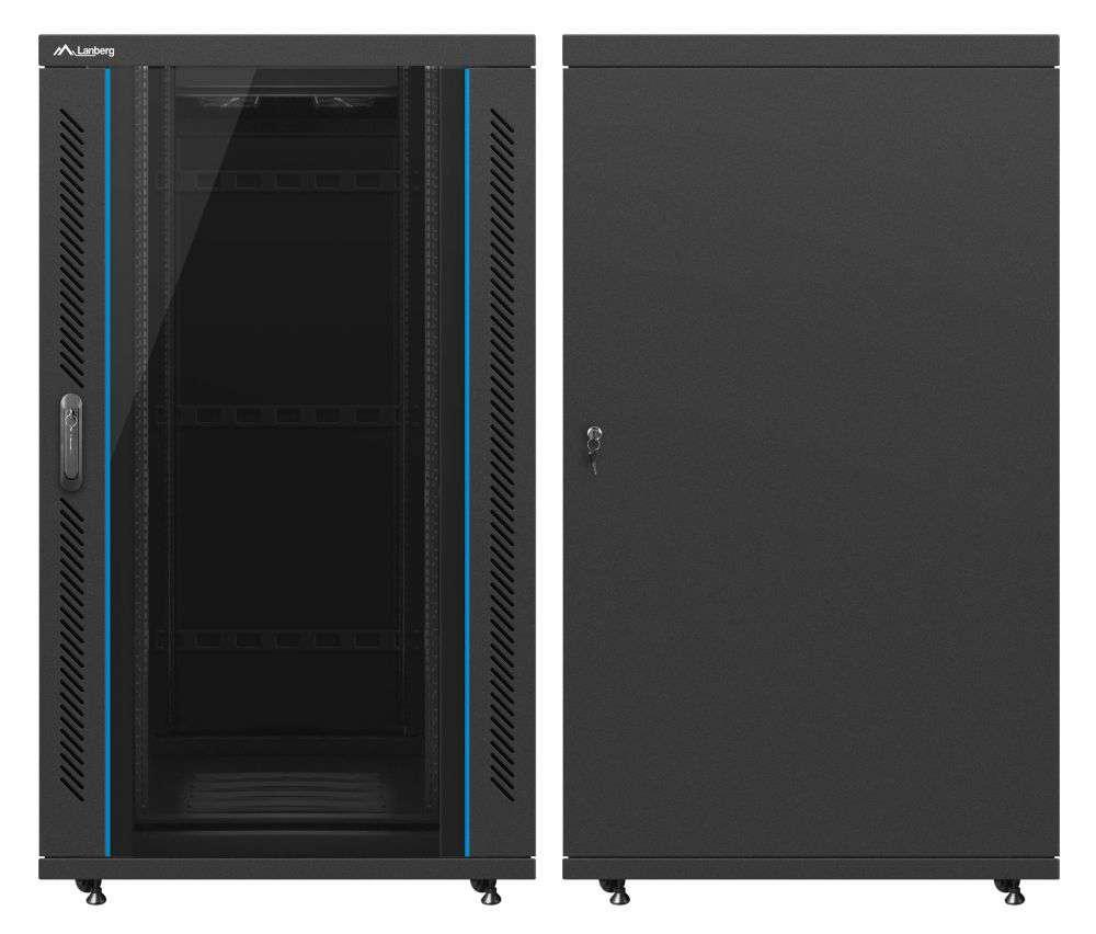 """Szafa Rack 19"""" 27U 800x1000 Lanberg FF02-8027M-12B"""