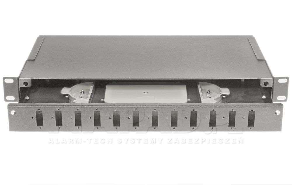 Przełącznica światłowodowa 12x SC duplex szara