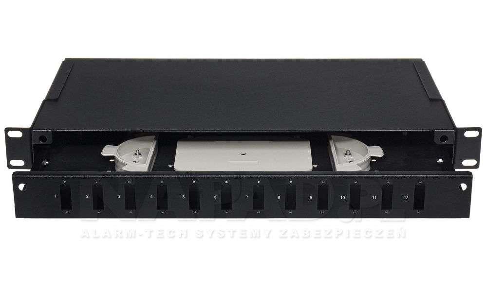 Przełącznica światłowodowa 12x SC duplex czarna