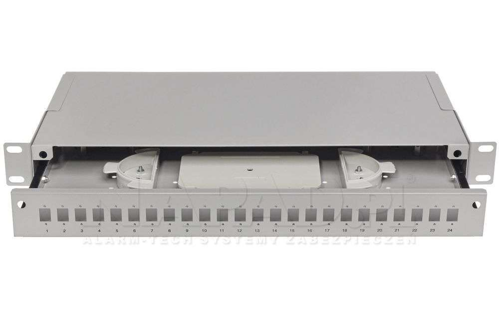 Przełącznica światłowodowa 24x SC simplex szara