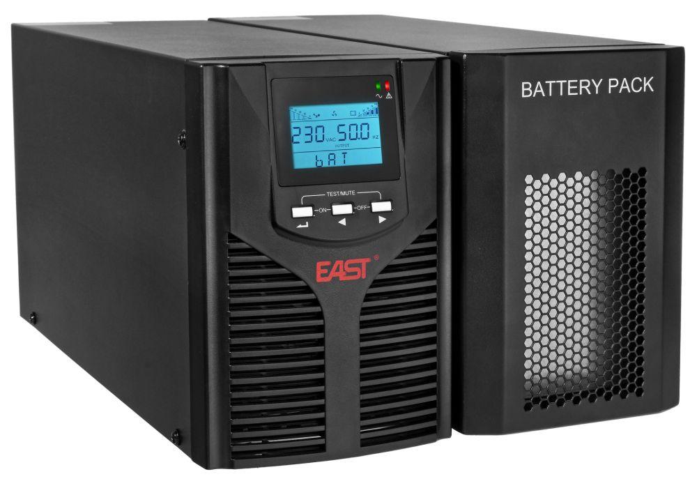 2w1 Zestaw zasilania awaryjnego UPS 3kVA UPS1000-LCD + BP3X9/T EAST