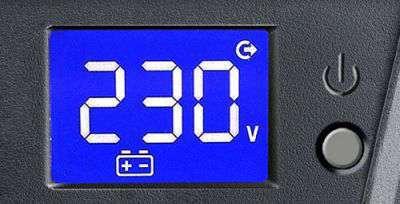 PowerWalker VI 1500 SCL wyświetlacz LCD